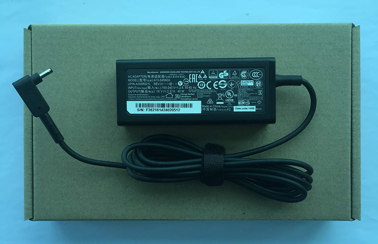 Original 45W AC Adapter Charger for Acer Chromebook CB3 CB5 11 13 14 15 R11 R13 A13-045N2A N15Q9 C731 C738T CB3-532 CB3-431 CB3-131 PA-1450-26 Laptop Power Supply Cord