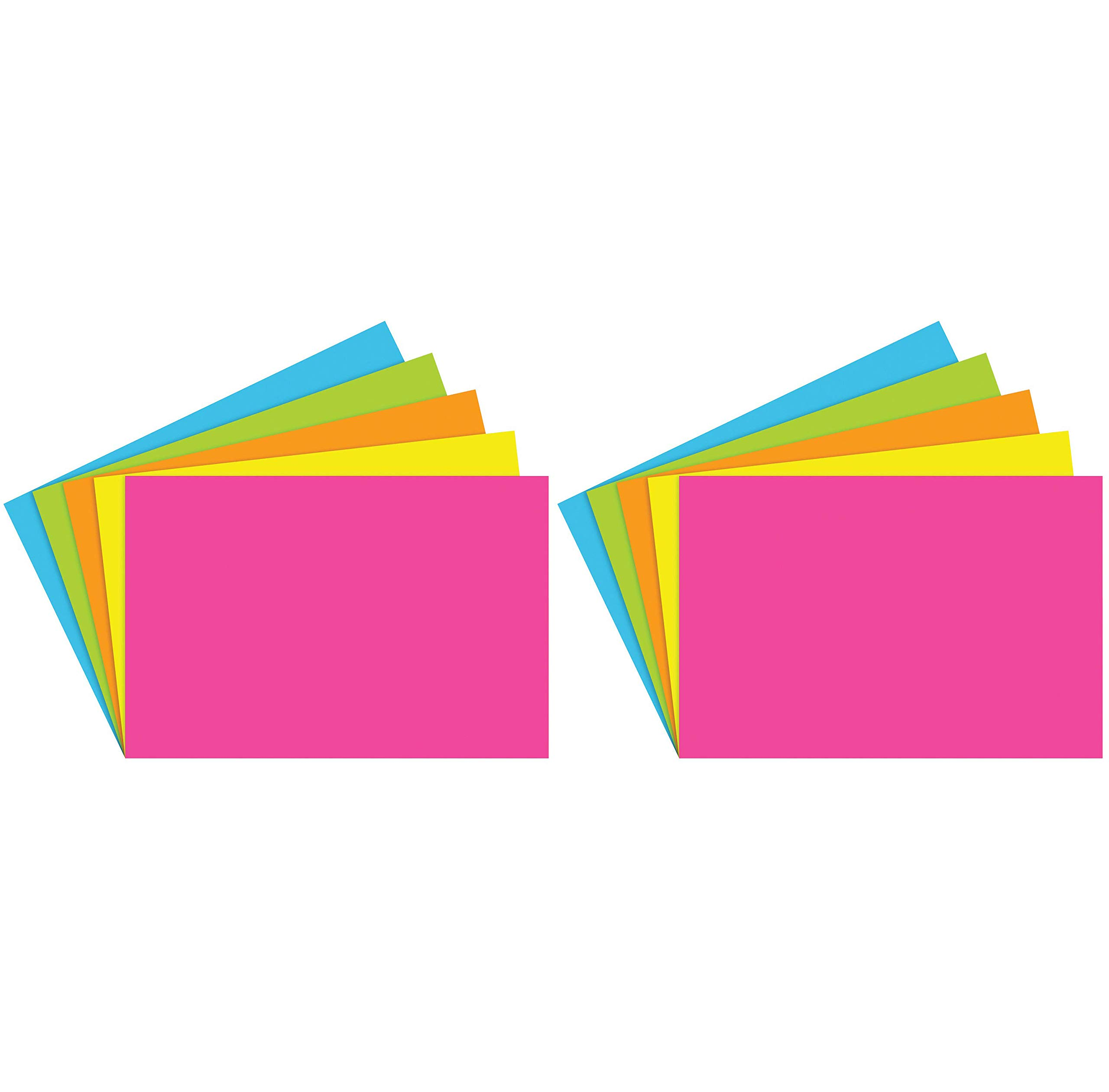 Top Notch Teacher Products TOP361 Blank Brite Assorted Index Cards, 1'' Height, 3.9'' Wide, 5.9'' Length (100 Cards per Package) (2-(Pack))