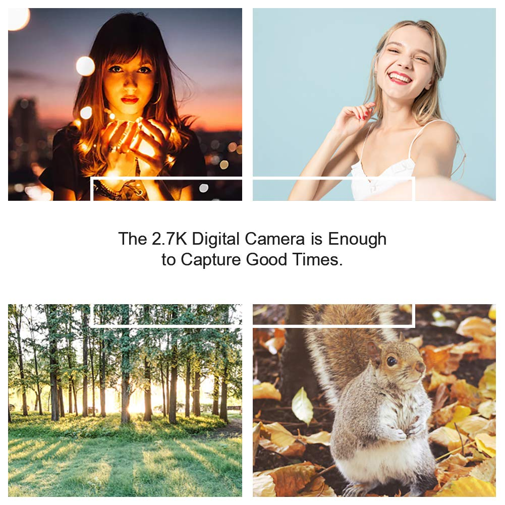 Digital Camera Vlogging Camera with Flip Screen for Youtube 24MP 2.7K Ultra HD 3.0 Inch With Retractable Flash Light