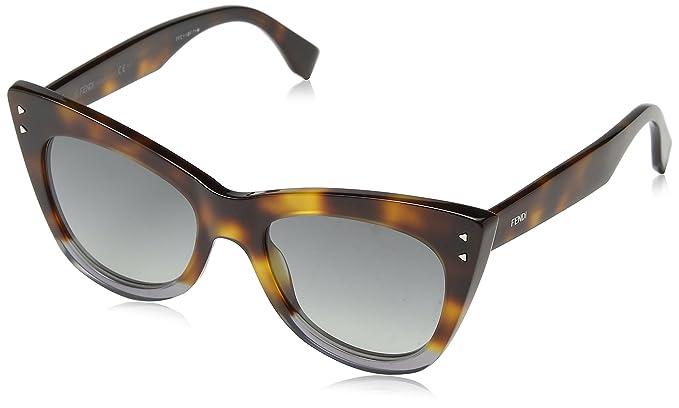 Fendi Damen Sonnenbrille FF 0238/S 9O AB8, Grau (Havana Grey/Dark Grey Sf), 52