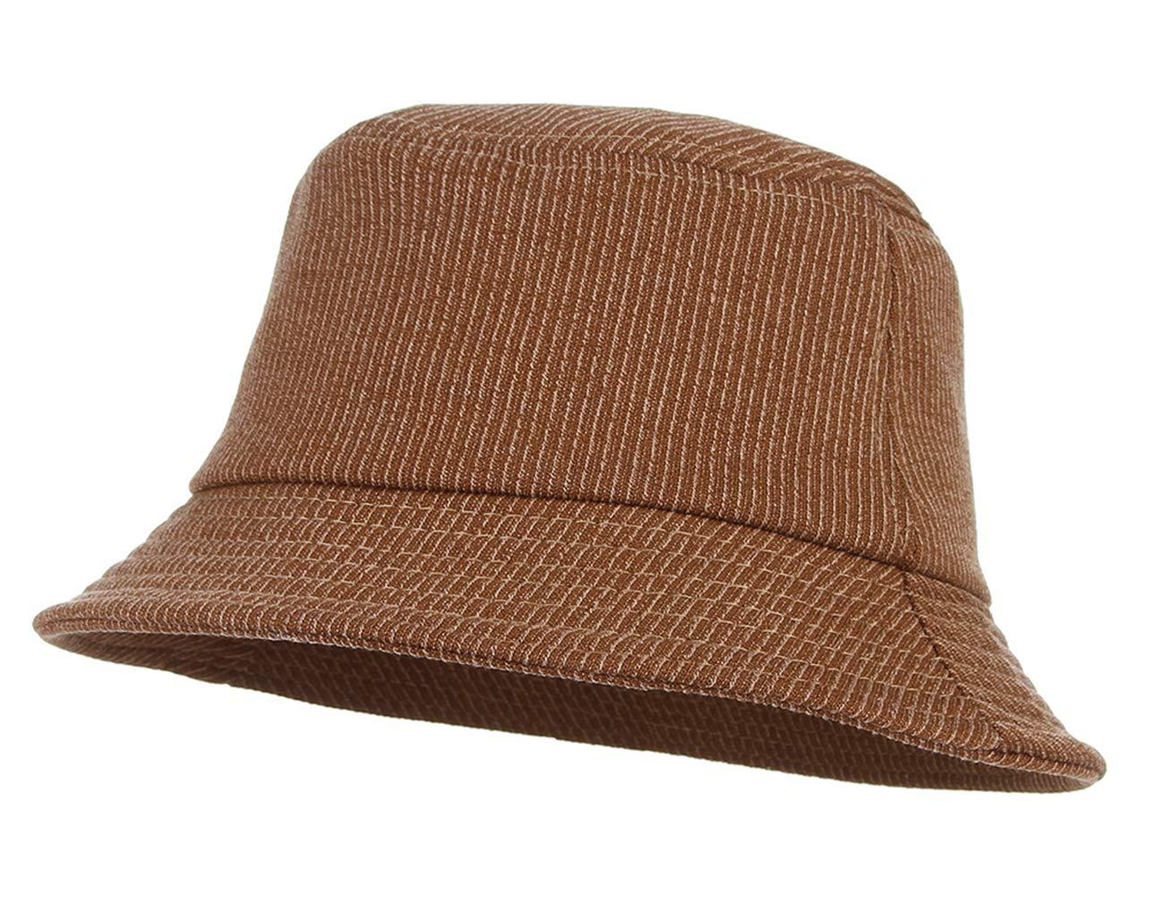 Gemvie Unisex Cotton Foldable Bucket Hat Travel Outdoor Sun Protection Bucket Fisherman Hat