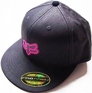 Fox Racing Neon Camo Gray/Black/Pink Flat Brim Flexfit Hat Large/X-Large
