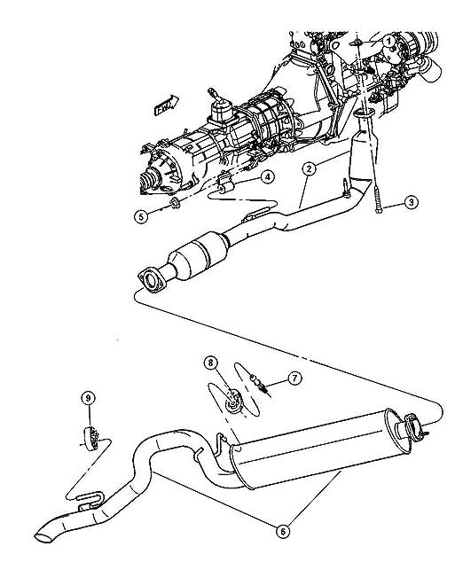 Amazon Com Mopar 5210 1120ad Exhaust Muffler Automotive