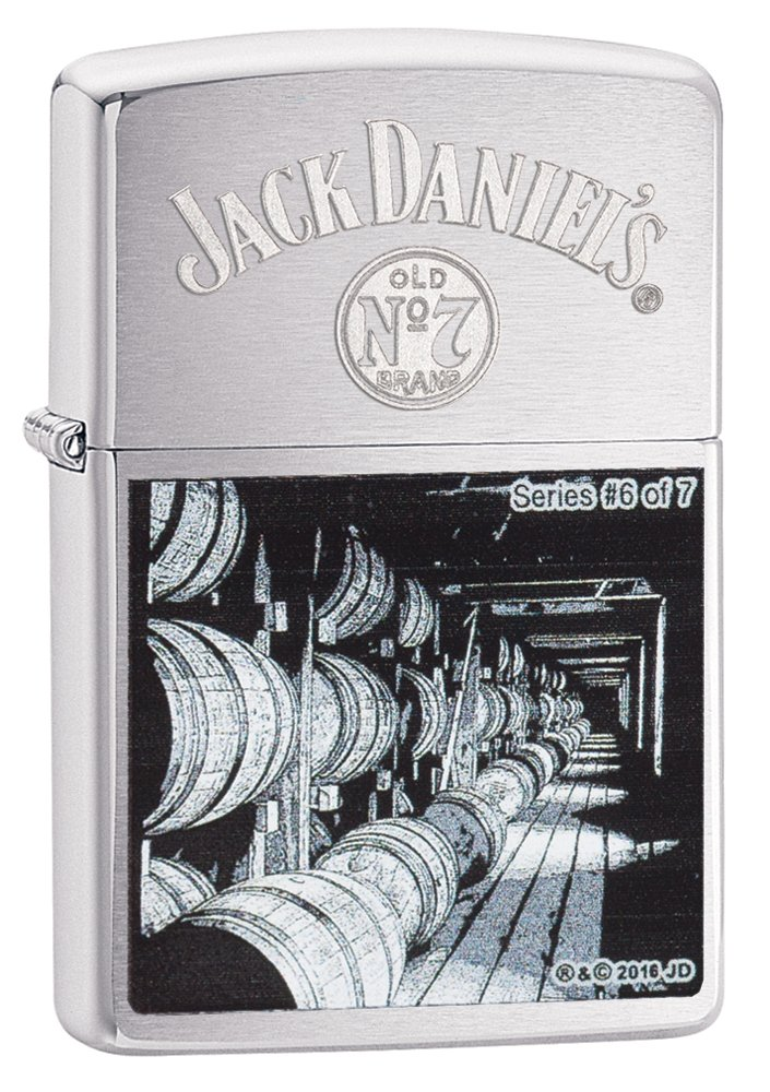Zippo Jack Daniel's Series 6 Brushed Chrome Pocket Lighter