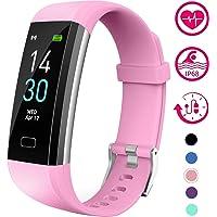 Vabogu Fitness Tracker HR, con Monitor de presión Arterial, podómetro, Monitor de sueño, Contador de calorías, Alarma vibratoria, Reloj IP68 Impermeable para Mujeres y Hombres (Morado)