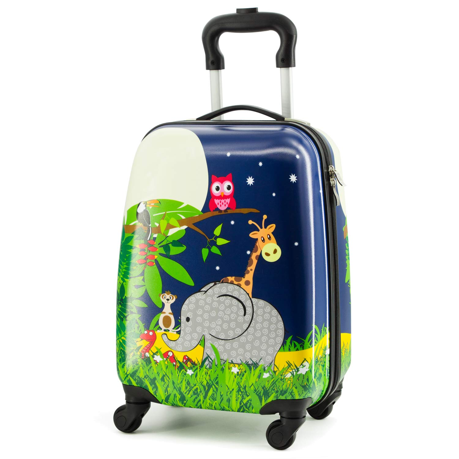5e301dda7766 Lttxin cute kids suitcase pull along travelling luggage with 4 wheel hard  shell 18 inch for boys (elephant)