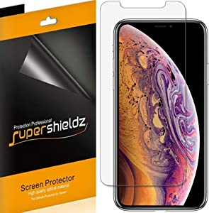 (3 Pack) Supershieldz for Apple iPhone Xs and iPhone X (5.8 inch) Screen Protector, Anti Glare and Anti Fingerprint (Matte) Shield