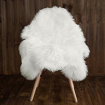Amazoncom My Comfy Zone Sheepskin Faux Fur Chair Coverrugseat