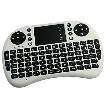ÁpexTech Mini Teclado Inalámbrico portátil Multifunción con Touchpad para el PC, HTPC, TV,