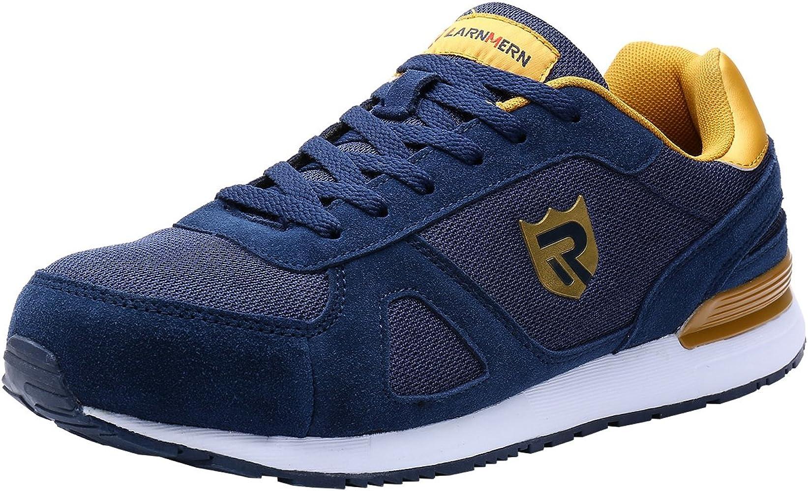 LARNMERN Zapatos de Seguridad Hombre Mujer con Puntera de Acero Zapatilla, Antideslizante ESD Comodos Calzado de Trabajo Industrial (Azul 42.5 EU): Amazon.es: Zapatos y complementos