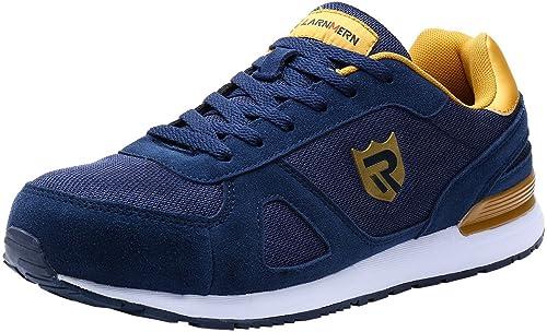 LARNMERN Zapatos de Seguridad para Hombre con Puntera de Acero, LM-123, Zapatillas