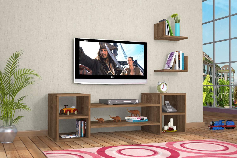 Mueble TV Design Zeo diseño Madera Nogal Color marrón Claro: Amazon.es: Electrónica