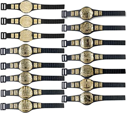 Set of 12 Championship Belts Plus 5 Accessories for WWE Wrestling Action Figures