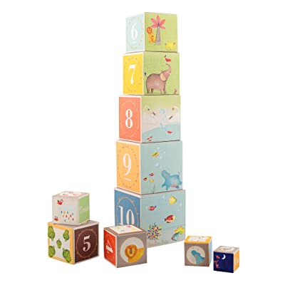 Moulin Roty Stacking Cubes: Toys & Games