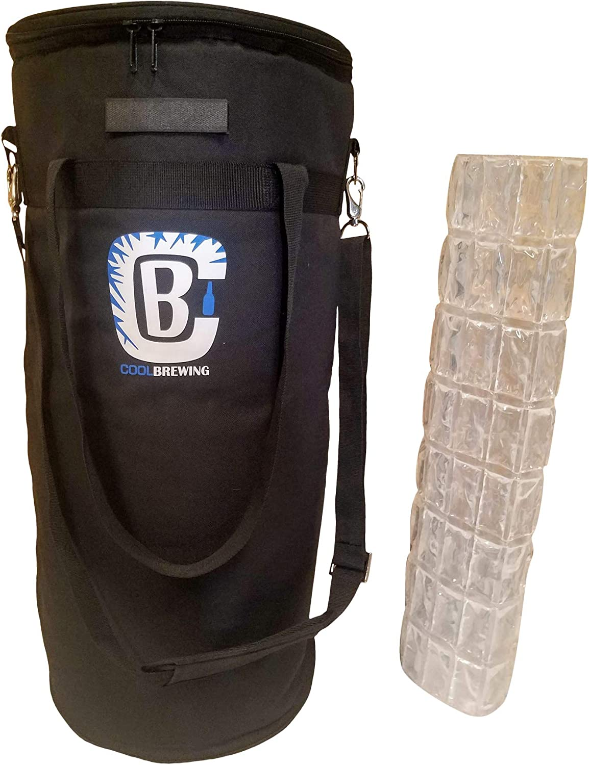Home brew Keg Cooler & Ice Wrap Bundle. Beer Cooler for 5 gallon, Corny and Cornelius kegs. Cool Brewing
