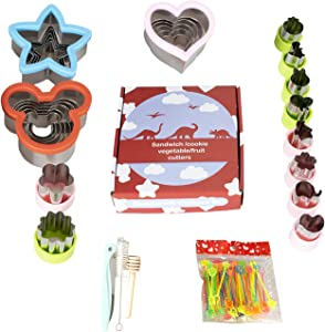Stainless Steel Sandwiches Cutter set 81pcs, Mickey Mouse & Heart & Star Shapes Sandwich Cutters Cookie Cutters Vegetable cutters-Food Grade Cookie Cutter Mold for Kids Suitable for Cakes