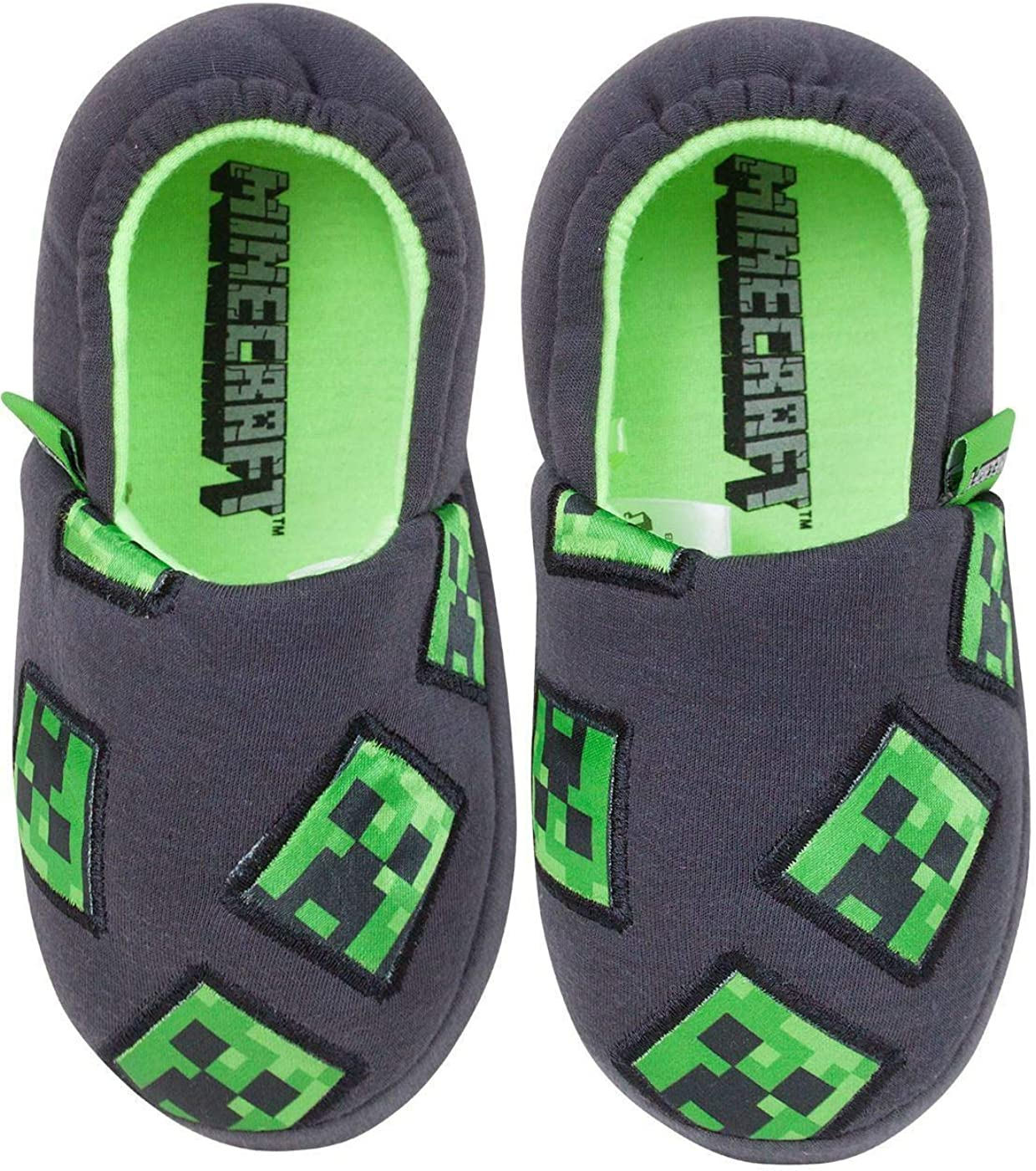 Minecraft Creeper Boys Slippers