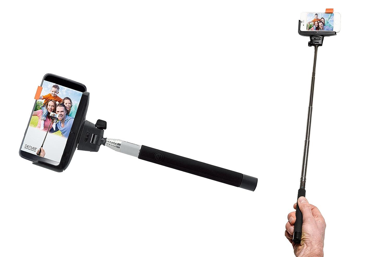 Denver SBT-10 Selfie Stick con Bluetooth Shutter per Smartphone (max. 1 m, Batteria) Nero