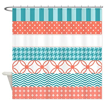 Amazon.com: CafePress - Coral Teal Washi Tape Pattern - Decorative ...