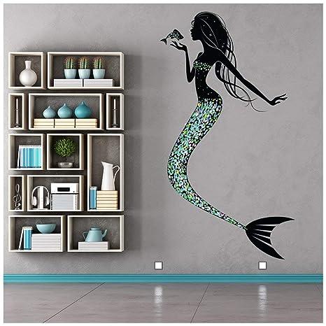 azutura Mermaid Wall Sticker Fairy Tale Fantasy Wall Decal Girls Bedroom  Nursery Decor available in 8 Sizes Medium Digital