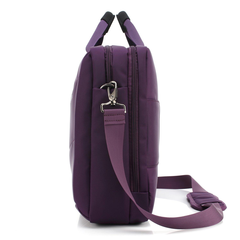 CoolBELL 17.3 Inch Laptop Messenger Bag Case Multi-Functional Briefcase Multi-Compartment Handbag Shoulder Bag for Laptop/Ultra-Book/Tablet (New Grey) Variation