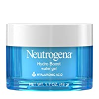 Neutrogena Hydro Boost Hyaluronic Acid Hydrating Water Gel Daily Face Moisturizer for Dry Skin, Oil-Free, Non-Comedogenic & Dye-Free Face Lotion, 1.7 fl. oz