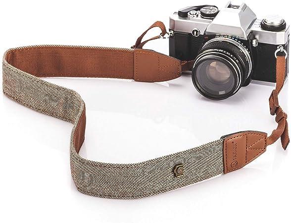 Cámara hombro cuello Vintage correa Correa para Sony Nikon Canon Cámara