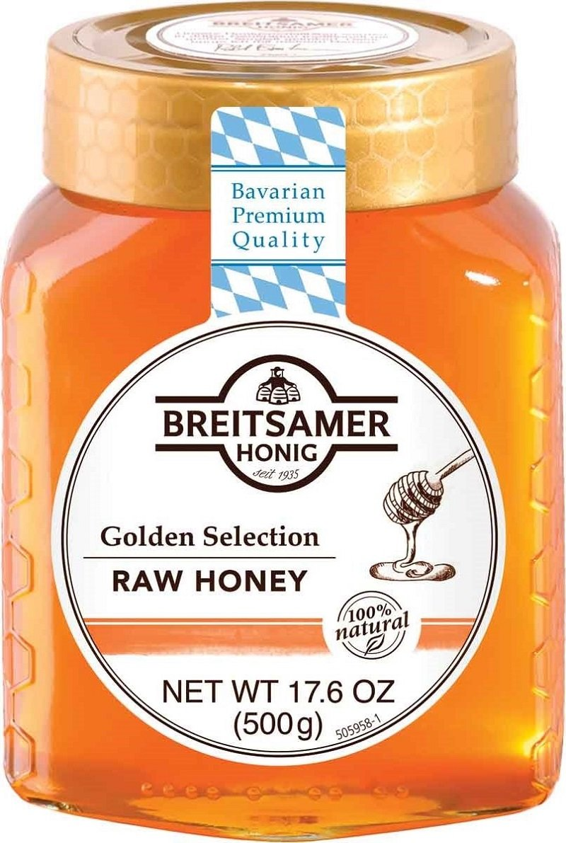 Breitsamer Golden Selection Honey Jar, 17.6 Ounce