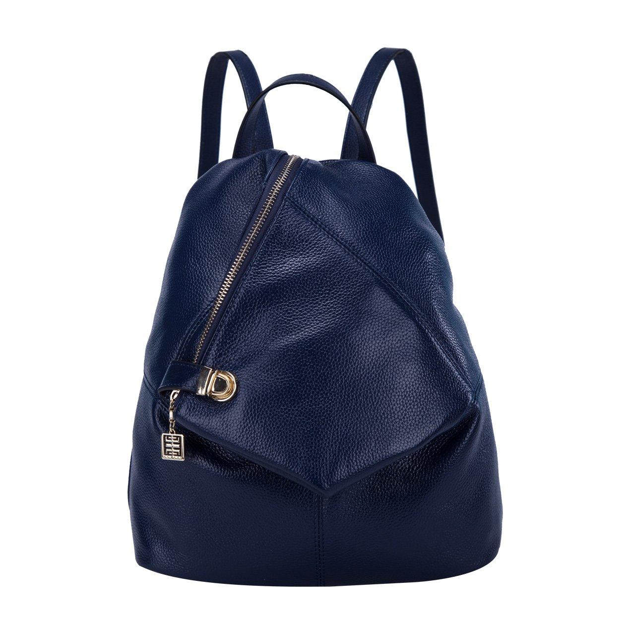 BOYATU Womens Leather Backpacks Ladies Travel Purse Satchel Shoulder School Bags(Royal bule)