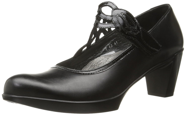 NAOT Women's Luma Dress Pump B004OSORBC 38 EU/6.5-7 M US Black Madras Leather/Black Crinkle Patent Leather