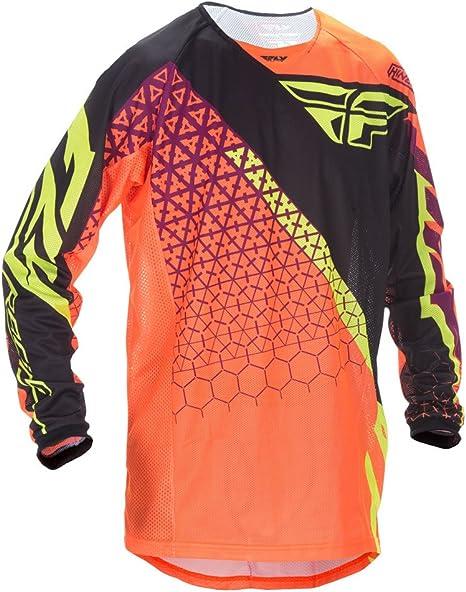 Fly Racing Motocross Kinetic Malla Camisa Trifecta Naranja de ...