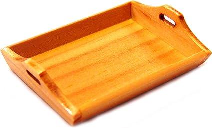 1:12 Scale Single Wooden Tea Tray Tumdee Dolls House Miniature Kitchen bk7