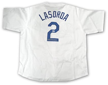 Tommy Lasorda Hand Signed Autographed LA Dodgers Jersey HOF 97 Champ ITP  PSA DNA 20da460109a