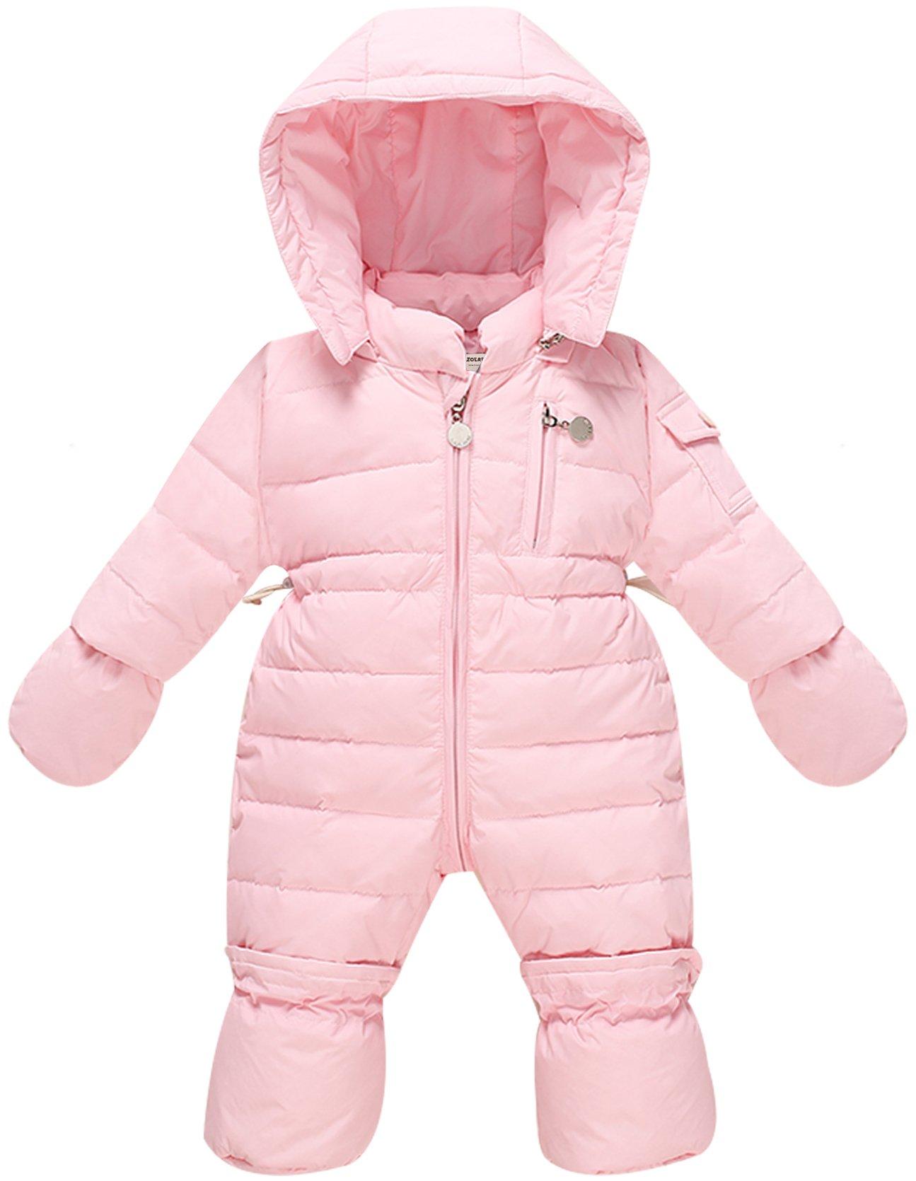 WESIDOM Newborn Baby Toddler Girls Boys Snowsuit Hooded Winter Romper Jumpsuit Coat Pink by WESIDOM