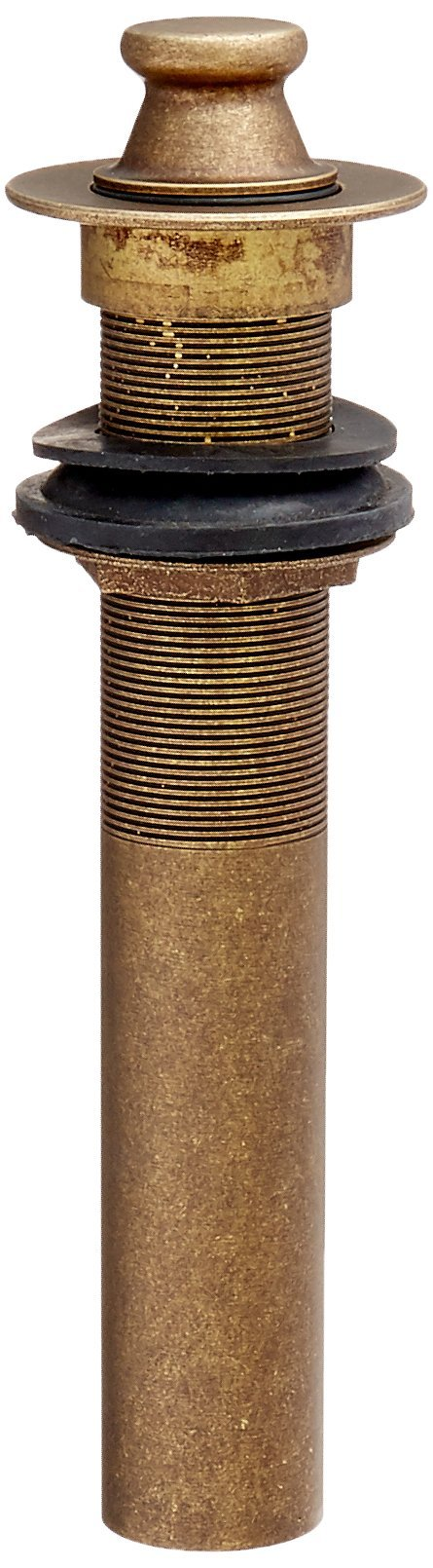 Belle Foret BFNLD4TB Lift-and-Turn Lavatory Drain without Overflow Holes, Tumbled Bronze by Belle Foret