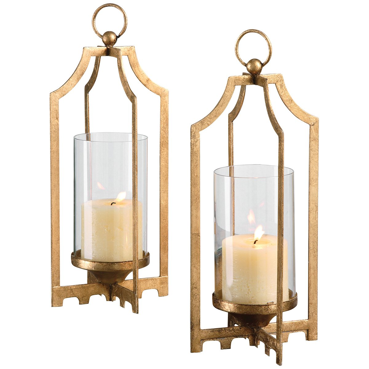 Uttermost 19957 Lucy Candleholders (Set of 2), Gold by Uttermost