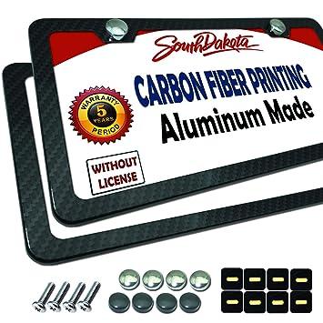 PROUD Marco para matrícula de Fibra de Carbono – Marco de Placa de Aluminio Negro Impreso