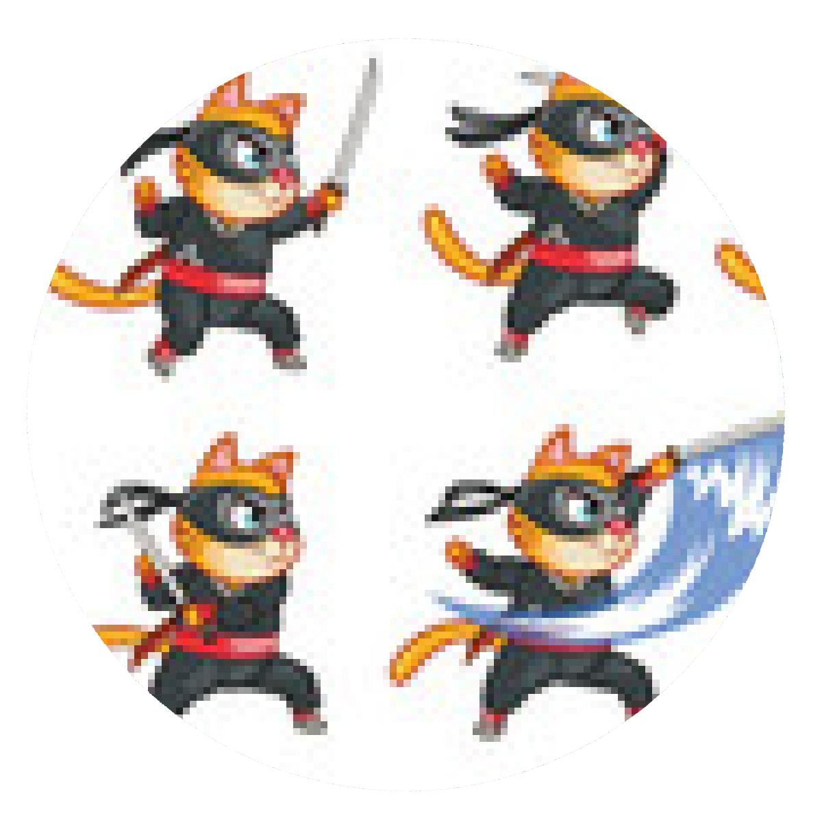 alfombrilla de ratón Gato Ninja banda Sprite - ronda: Amazon ...