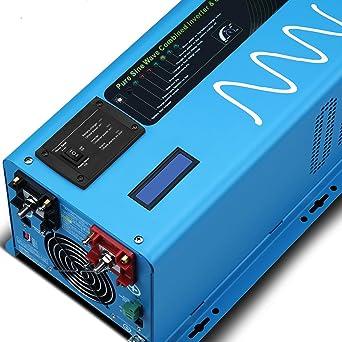 SUNGOLDPOWER 2000 W pico 6000 W inversor de onda sinusoidal puro ...