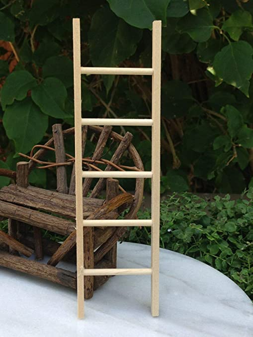 Miniatura casa de muñecas hadas jardín accesorios ~ Escalera recta de madera 6 pulgadas ~ nuevo: Amazon.es: Amazon.es