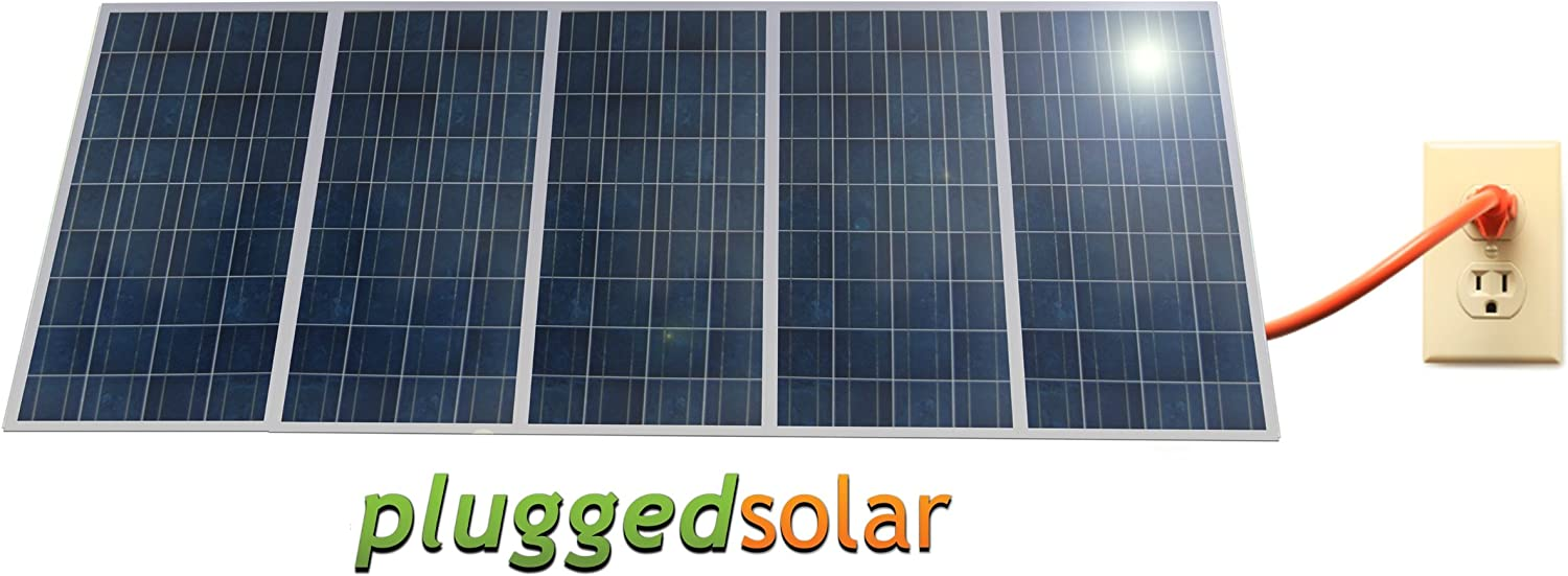 Pluggedsolar – Solar Panels and Micro Grid Tie Kit