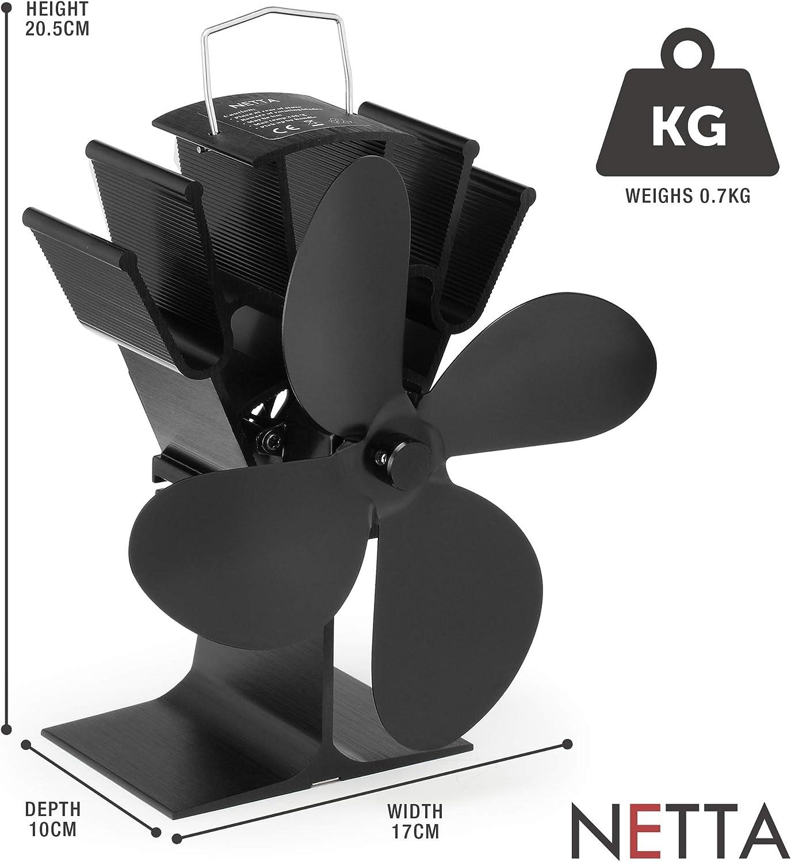 7 Farben Stromloser Kaminofen Ventilator für Holzofen Öfen Gebläse AP