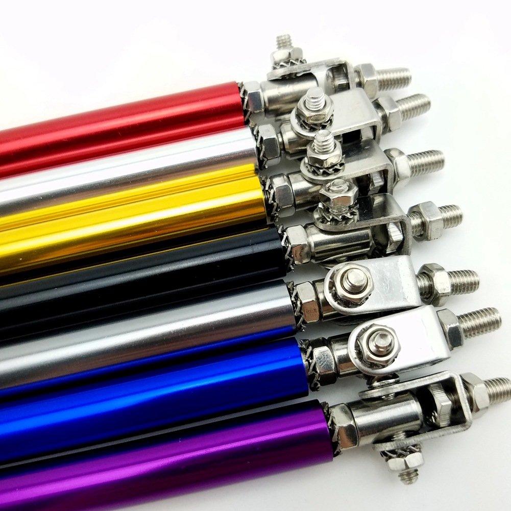2x Neo Chrome Adjustable Bumper Lip Diffuser Splitter Rod Strut Tie Bar Air Dam Splitter Support Rods 150mm