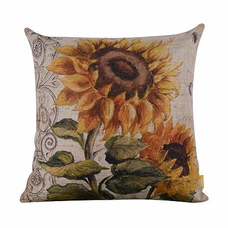 Amazon.com: leewos funda de almohada, Floral Square Funda de ...