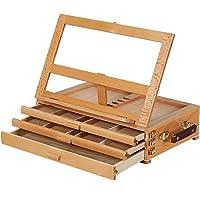 MEEDEN Artist Tabletop Sketchbox Easel- Multi-Function Adjustable Beech Wood Sketch Box Easel with 3-Drawer for PleinAir…