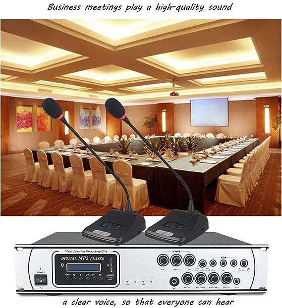 JAKROO Ecualizador de Reproductor de micrófono Bluetooth inalámbrico Karaoke Digital con Pantalla LCD, Concierto Profesional para Familia, Iglesia, PC, ...