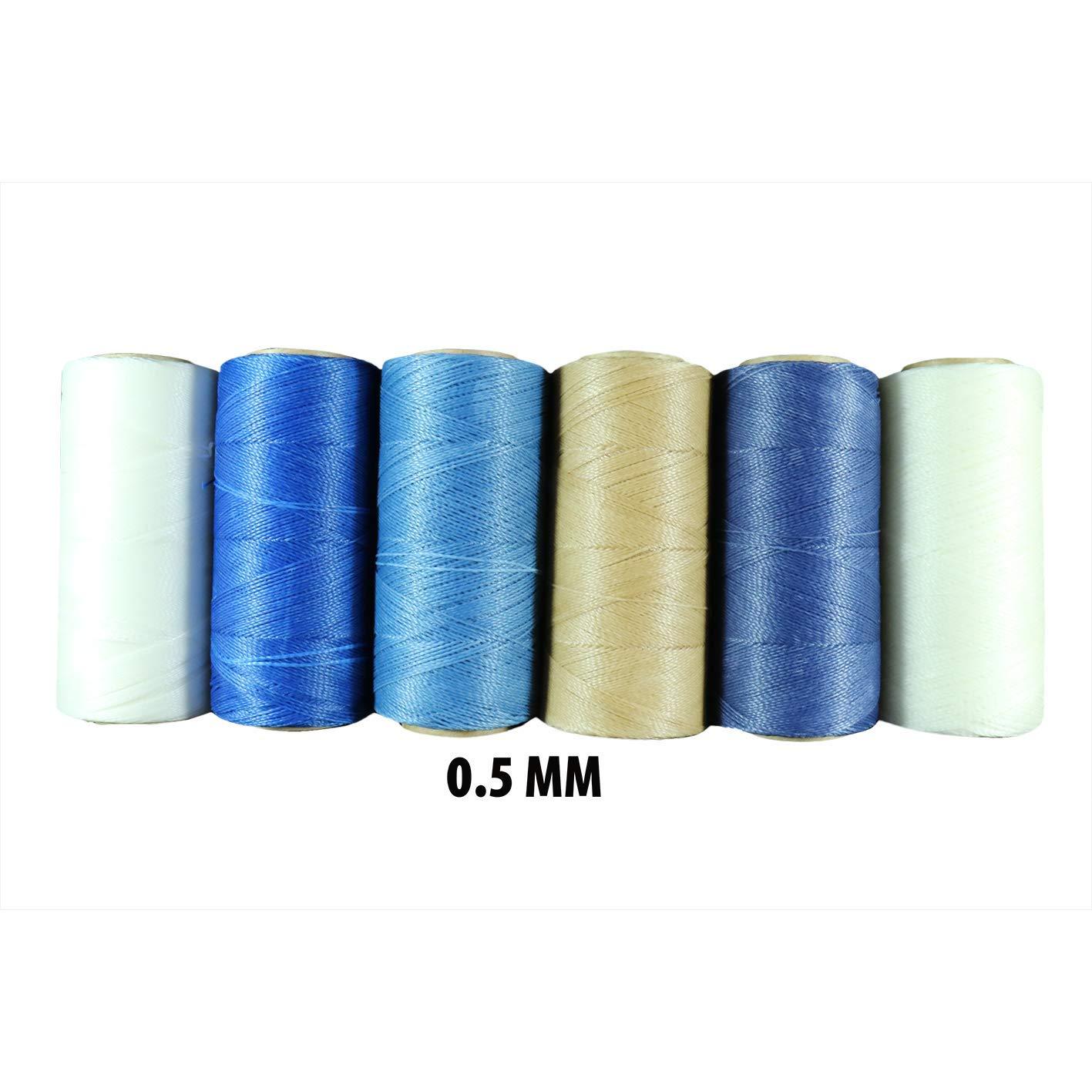 Hilo Encerado Linhasita 0.5 mm Gama Color Blanco