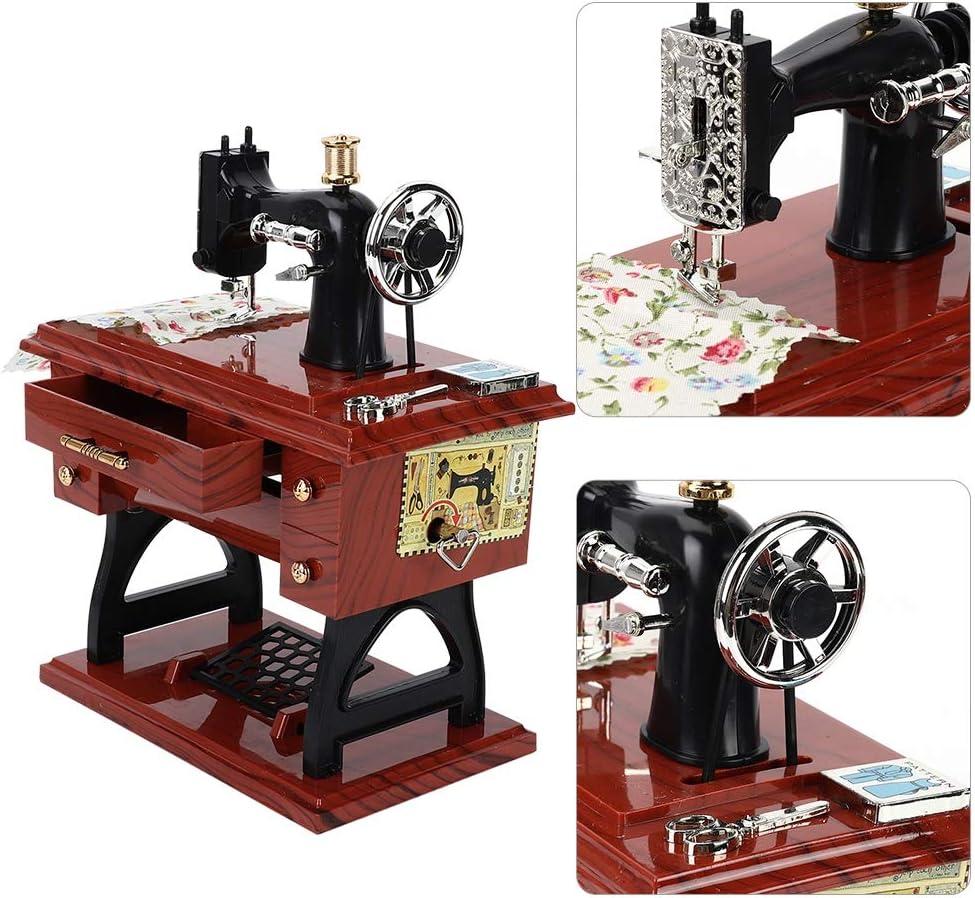 Bicaquu Vintage Mini Máquina de Coser Forma Caja de Música ...