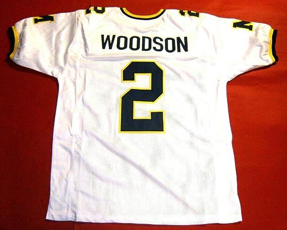 CHARLES WOODSON WHITE MICHIGAN CUSTOM STITCHED NEW FOOTBALL JERSEY MEN'S XL