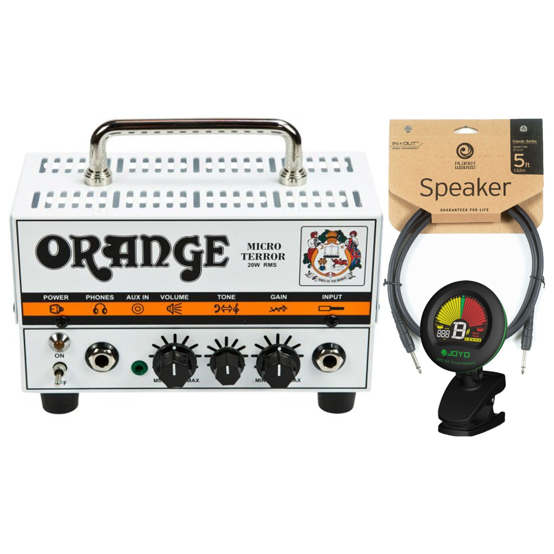 Orange MT20 Micro Terror 20 Watt Amp Head w/ Joyo Tuner and 5' Speaker Cable by Orange